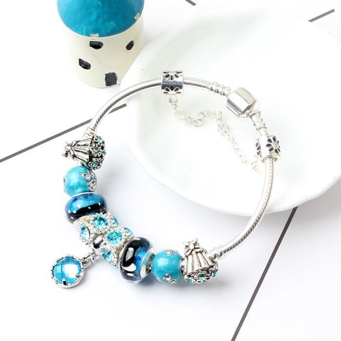 bijoux pandora charms bleu