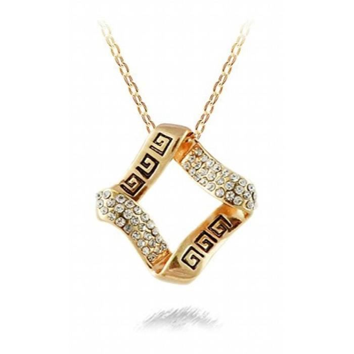 Womens Dazzling You 21k Yellow Gold Plated Cubic Zirconia Studded Alloy Pendant For AndOFUHZ