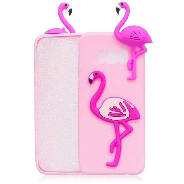 coque iphone xr silicone flamant rose
