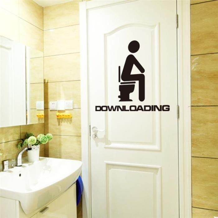 lot 3 stickers autocollant cuisine salle de bain toilette décoration porte decal