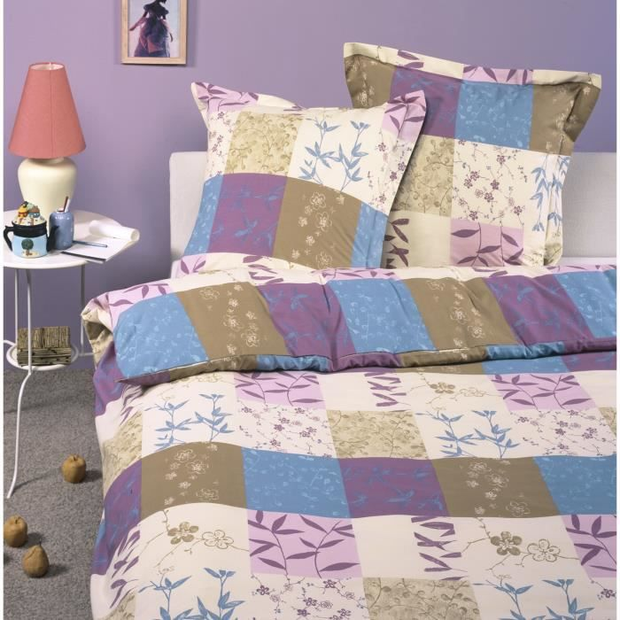 Parure housse de couette en 100 coton arielle 200x200 for Arielle d collection maison