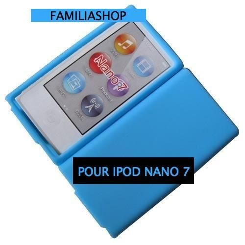 housse etui coque silicone bleu clair ipod nano 7g achat. Black Bedroom Furniture Sets. Home Design Ideas
