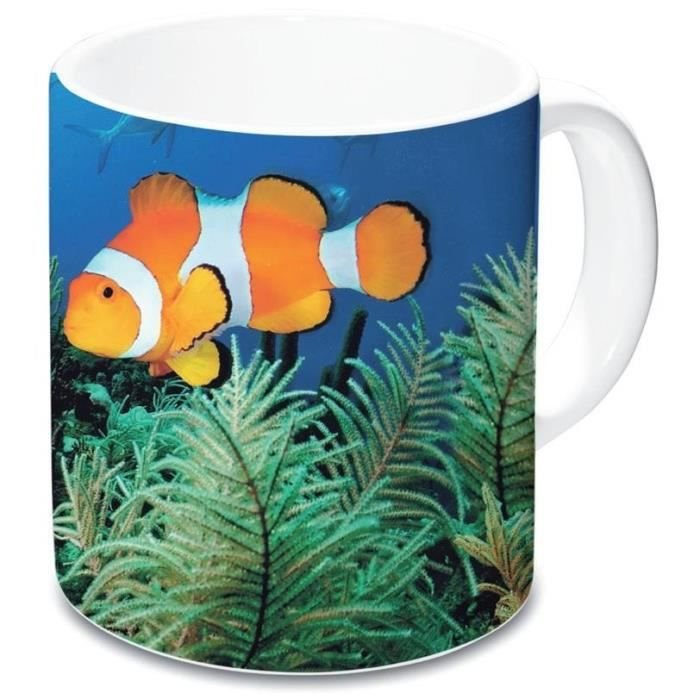 Lot de 2 mug poisson clown en c ramique achat vente for Poisson clown achat