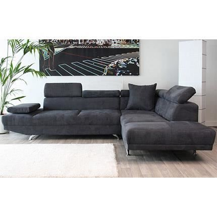 canap d 39 angle droite 3 places en microfibre achat vente canap sofa divan cdiscount. Black Bedroom Furniture Sets. Home Design Ideas