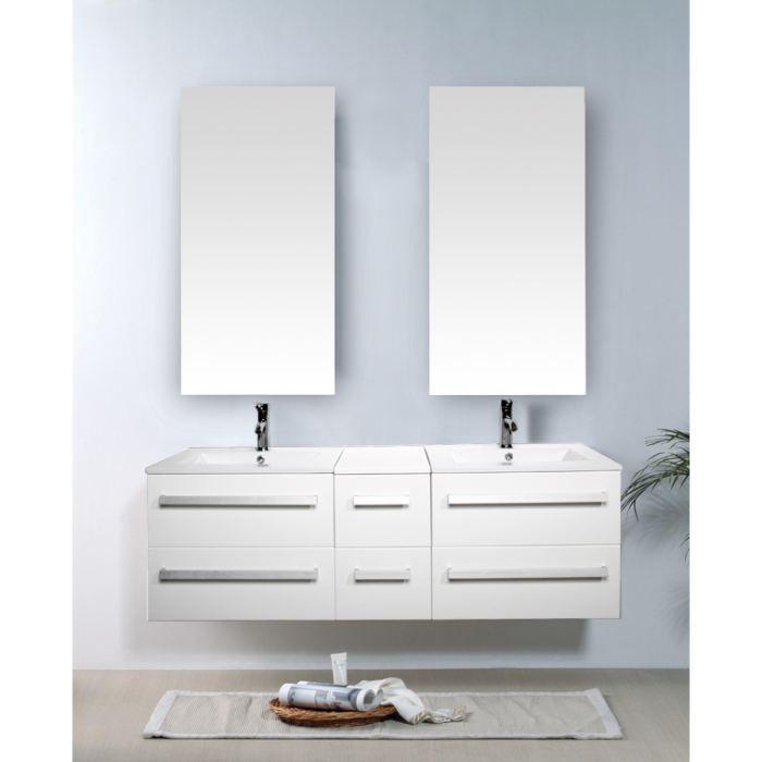 Ensemble salle de bain avec robinetterie et vasque - Achat ...