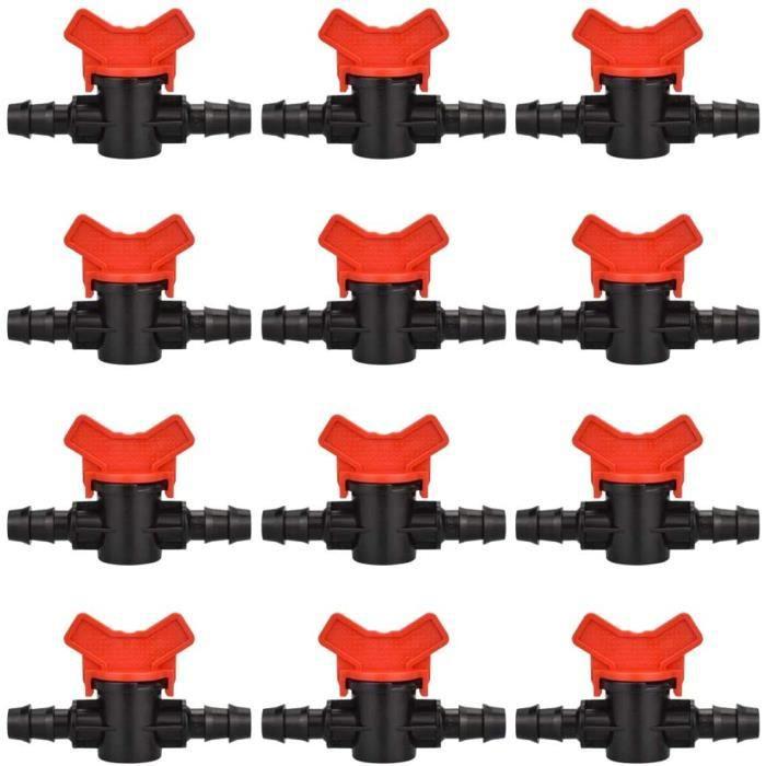 Arrosage Connecteur For 4//7mm Tuyau 100pc 1//4 Double Voies Haute Qualité Durable