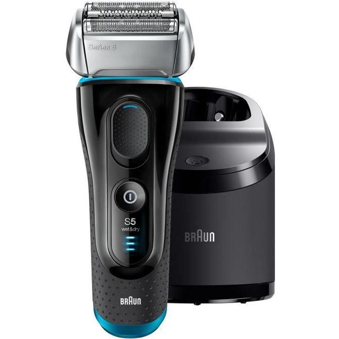 Photo de braun-series-5-5190cc-rasoir-electrique-sans-fil-wetdry-noir-et-bleu