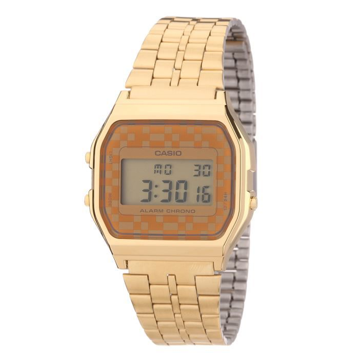 casio montre a159wgea 9aef mixte orange achat vente montre les soldes sur cdiscount. Black Bedroom Furniture Sets. Home Design Ideas