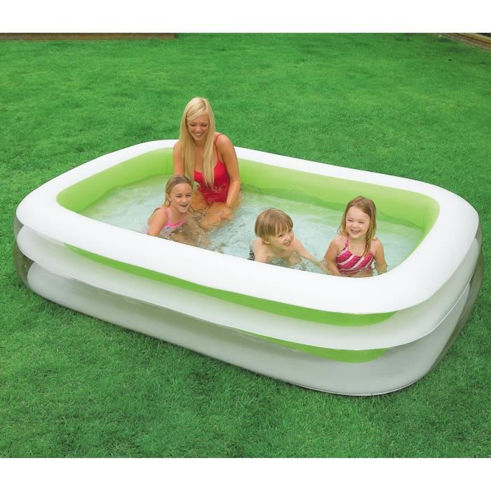 Intex piscine gonflable rectangulaire pour la famille 2 for Piscine gonflable adulte