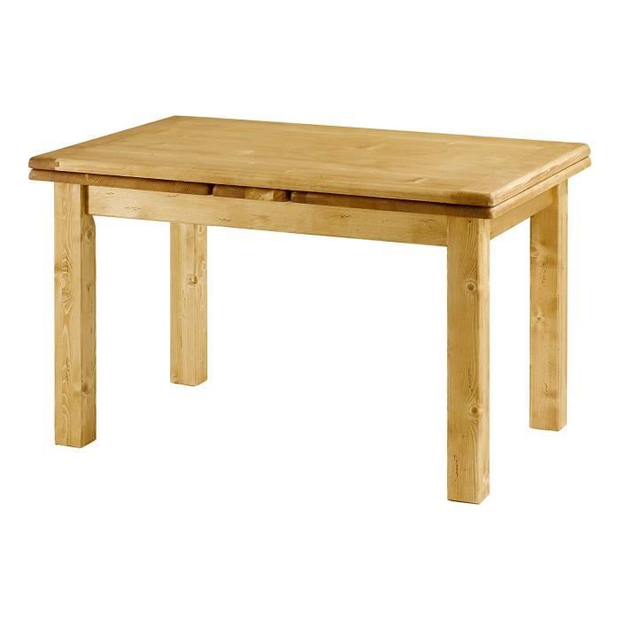 Table sapin massif 120 cm avec allonges 50 cm oregon for Table a manger avec allonges