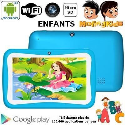 TABLETTE ENFANT Tablette enfant tactile Bleue 4 Go Android 4.1
