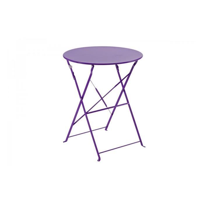 table ronde 60cm pliante camargue hesperide violet achat vente table de jardin table ronde. Black Bedroom Furniture Sets. Home Design Ideas