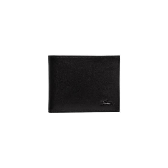 LONGCHAMP HOMME L4240788001 NOIR CUIR PORTEFEUILLE - Cdiscount ...