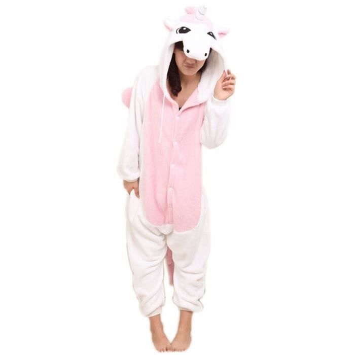 superbe kigurumi combinaison licorne rose rose rose achat vente d guisement panoplie. Black Bedroom Furniture Sets. Home Design Ideas