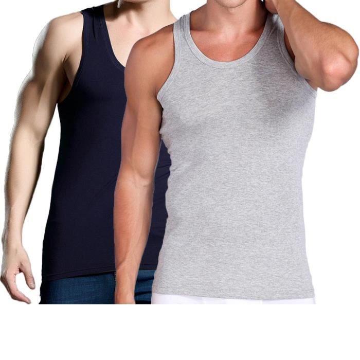Débardeur Homme Lot de 2 Sans Manche T-shirt