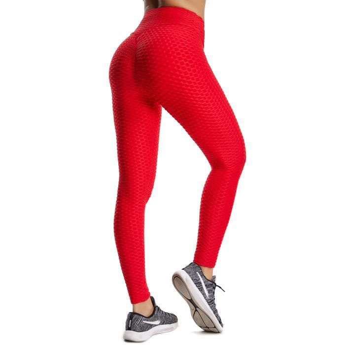 Starbild Femmes Leggings De Sport Anti Cellulite Pantalon De Compression Push Up Taille Haute Fesse Remontee Yoya Fitness Rouge Achat Vente Legging De Compression Cdiscount