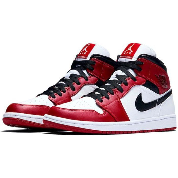 """Basket Air Jordan 1 Mid""""Chicago""""Chaussure de Sport AJ 1 Pas Cher ..."""