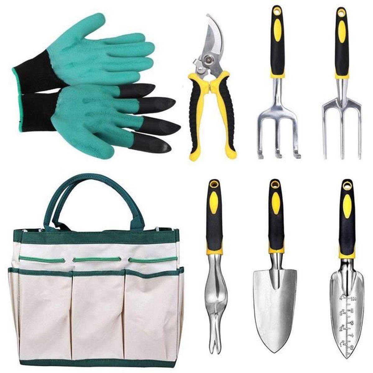 Les Outils De Jardinage Avec Photos 8 pieces outils de jardinage en aluminium kit de jardin