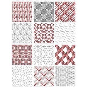 STICKERS Planche de 12 stickers Carreaux de Ciment - Chartr