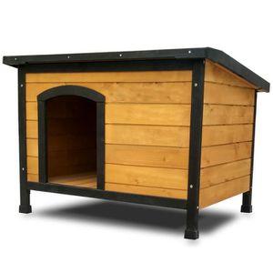 NICHE Niche Chien bois pin haute qualité avec toit plian