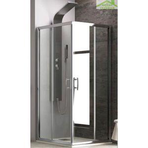 PORTE DE DOUCHE Parois de douche carrées NEW FLORA H 180cm 80x80x1