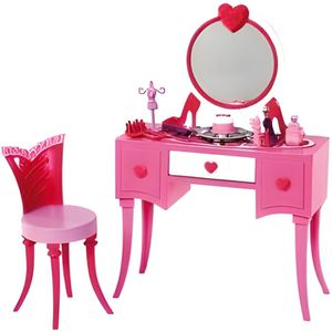 MAISON POUPÉE Coiffeuse Glamour Barbie - Mattel - Accessoire mai