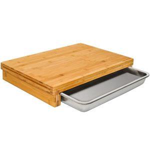 45 x 25 x 2 cm. dimensions Continenta Planche /à pain en h/être de qualit/é professionnelle avec grille ramasse-miettes