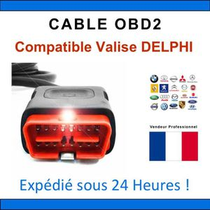 OUTIL DE DIAGNOSTIC Câble de remplacement OBD2 - Compatible avec VALIS