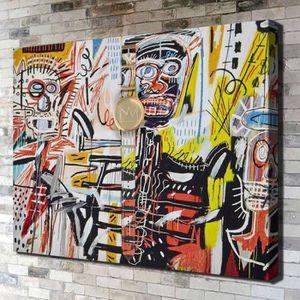 TABLEAU - TOILE Jean-Michel Basquiat People Graffiti Art Home Déco
