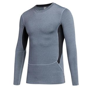 T-SHIRT DE COMPRESSION Homme T-shirt de compression manches longues col r 10e6dcf5eff1