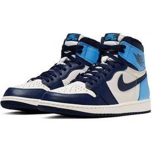 chaussures nike air jordan 1 bleu