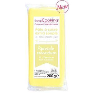 PATE A SUCRE Pâte à sucre de couverture 200 g - Jaune pastel
