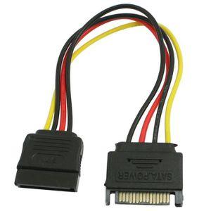 CÂBLE E-SATA PC SATA 15 broches male a femelle disque dur Cable