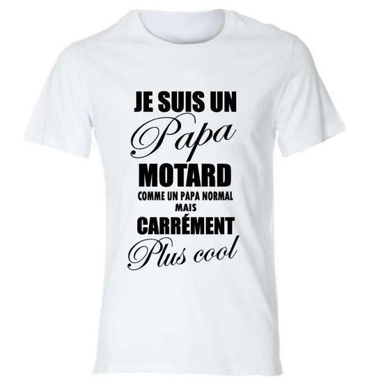 Papa motard t-shirt humour motard cadeau tee shirt 100/% coton.