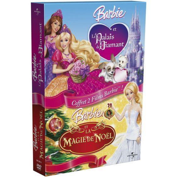 DVD DESSIN ANIMÉ DVD Coffret Barbie la magie de Noël ; le palais...
