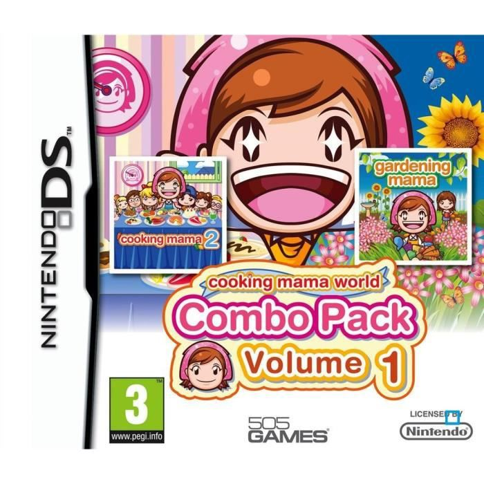 Pack cooking mama volume 1 jeu console ds achat for Cuisine ds