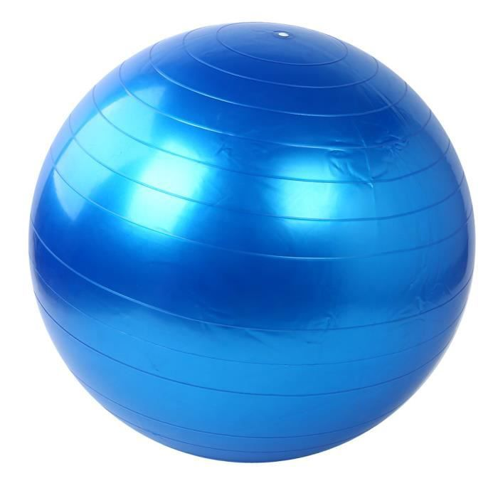 GYM BALL -Ballon de yoga 55cm Exercice Fitness GYM Lisse Yoga Ball BU XCH50803548BU_wat