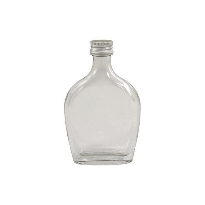 Mini Flasque en verre, contenance de 4 cl, par lot de 6 mini flasques.Comment faire de l'original avec un contenant vieux comme le