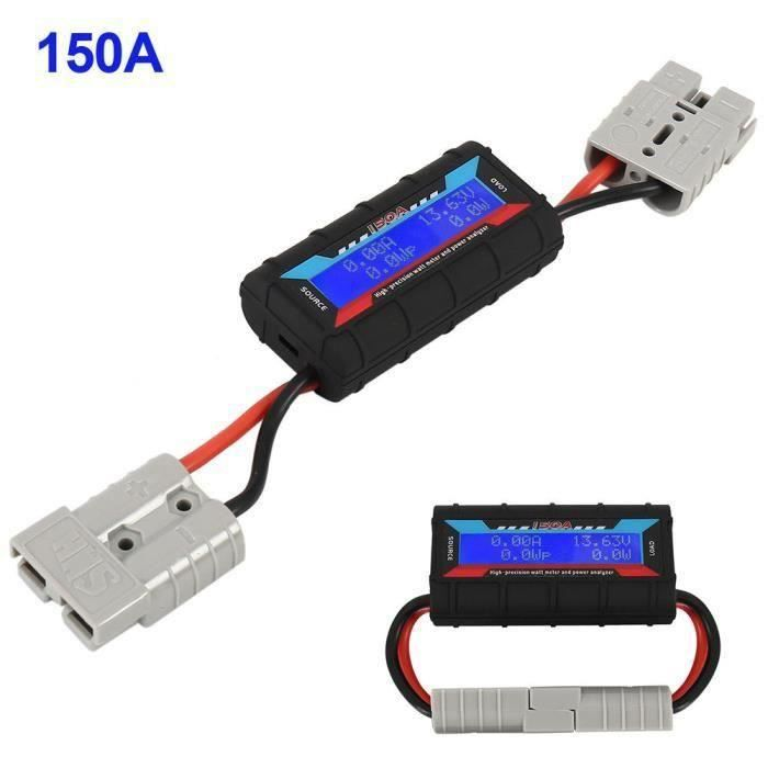 Letouch 150A LCD numérique WATTMÈTRE 60V avec Anderson , une simple analyse de puissance DC