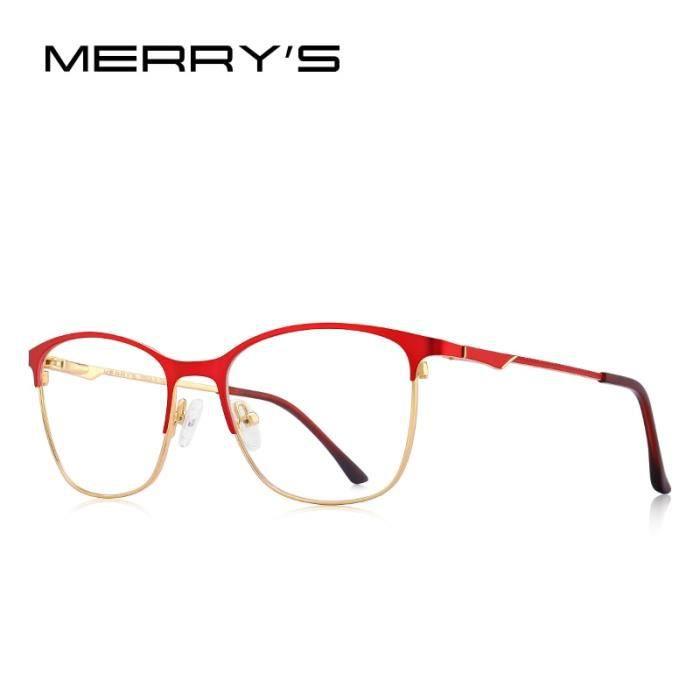 Montures de Lunettes de vue,MERRYS lunettes yeux de chat femme DESIGN tendance, lunettes à monture complète pour - Type C03 Red