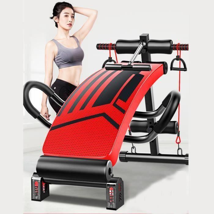 Banc de musculation pliable fitness abdominaux et dorsaux
