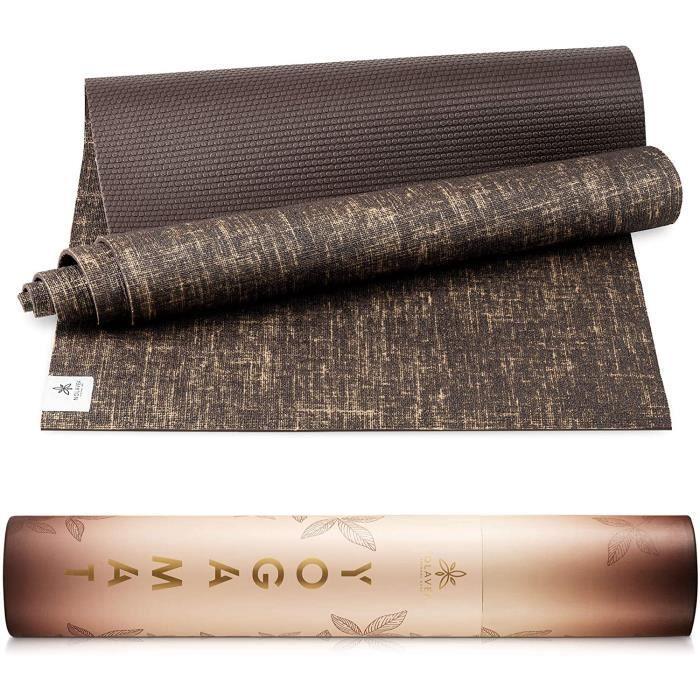 Nolavea - Tapis de Yoga Antiderapant - Tapis De Sol Gym Epais et Transportable avec Sangle Yoga Mat pour Sport Maison, Fitness, Gym