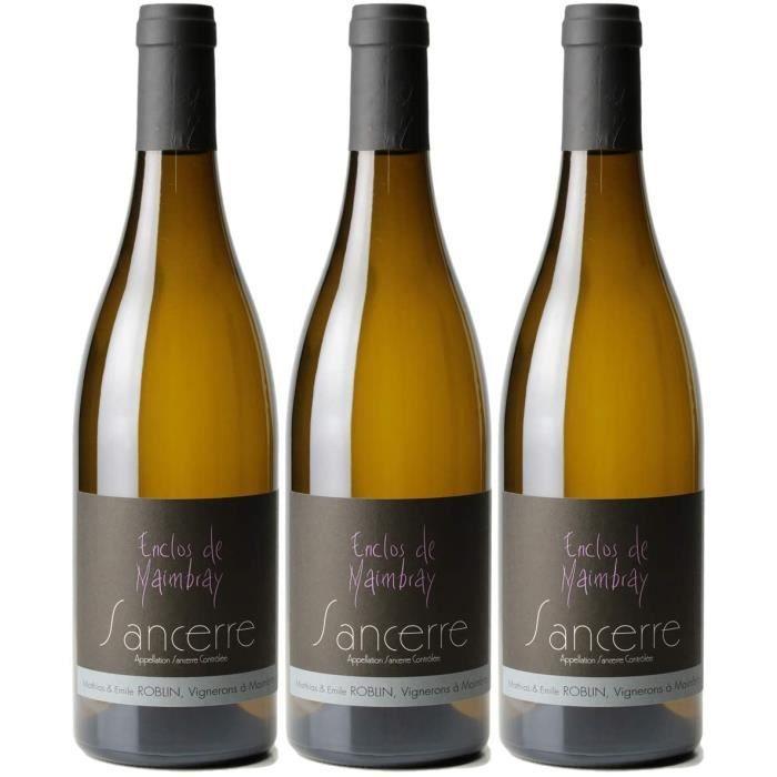 Sancerre Enclos de Maimbray Blanc 2018 - Domaine Matthias et Emile Roblin - Vin AOC Blanc du Val de Loire - Lot de 3x75cl - C&ea34