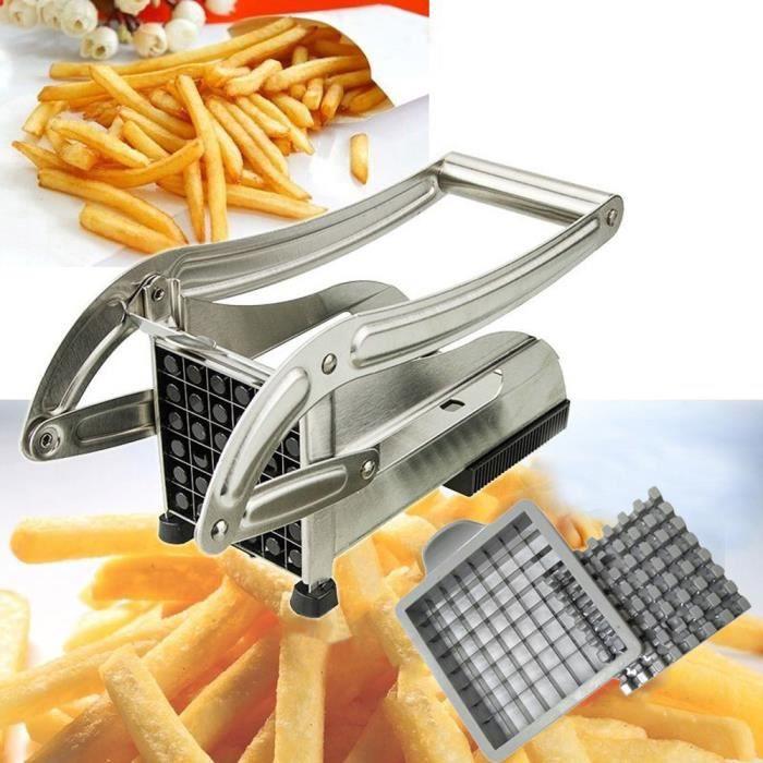 Nouvelle Machine de découpe de pommes de terre en acier inoxydable coupe-frites anti-dérapant grise