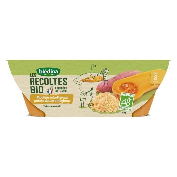 BLEDINA - Les récoltes BIO butternut patate douce boulghour 2x200g