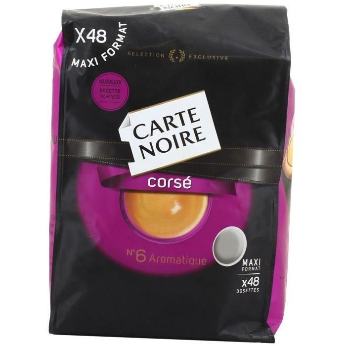 CARTE NOIRE Café Noir Corsé - 48 dosettes - 336 g