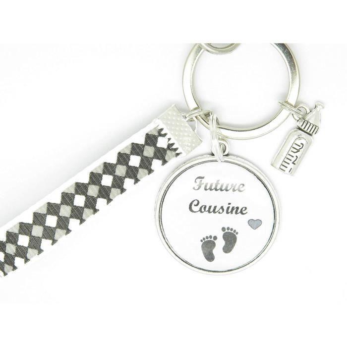 Portes Clés Personnalisable ou Bijou de Sac Cadeau Original pour Annonce Grossesse Cousin Cousine