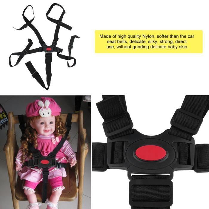 Universel bébé harnais 5 points ceinture sécurisée ceinture de sécurité chaise de bébé haute qualité dinant la ceinture ceinture d