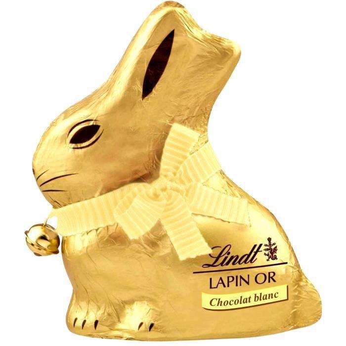 LINDT Lapin Or Chocolat blanc 200g