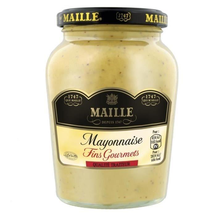 Maille Mayonnaise Fins Gourmets Qualité Traiteur 320g (lot de 6)